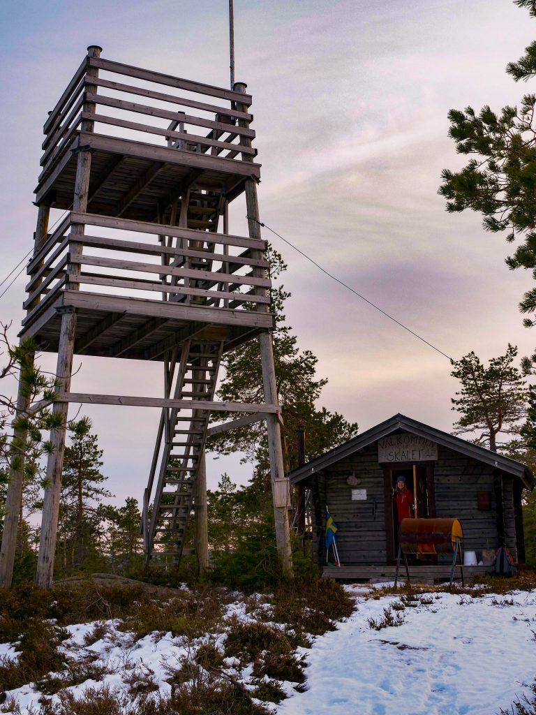Toppstuga, Berget Skalet, Äppelbo, Brudskogen.